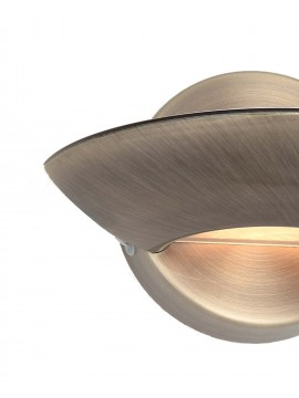 Contemporary design wall light 1 light Lumina burnished