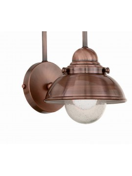 Rustic wall light 1 light copper and glass Sailor