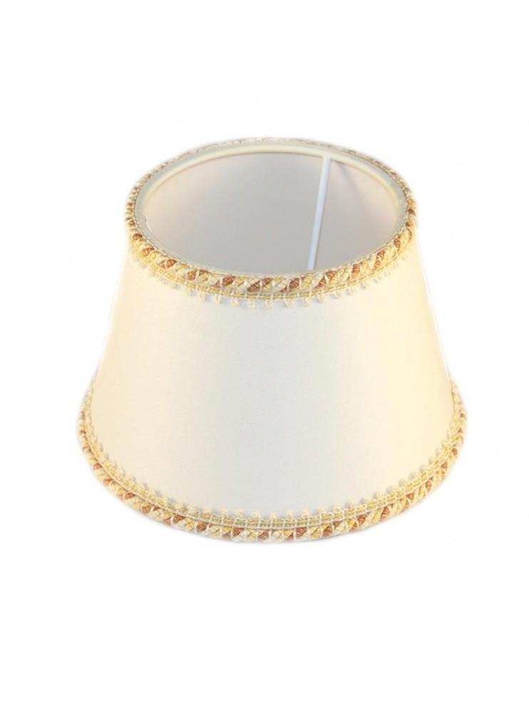Paralume bianco D.16cm in tessuto ricambio per lumi e appliques