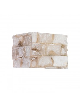 Applique rustico alabastro a 1 luce Carrara