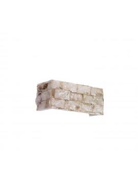 Carrara rustic alabaster 2 lights sconce