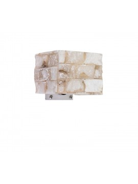 Carrara rustic alabaster wall light with 1 light