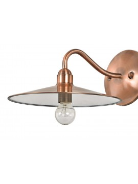 Classic rustic wall light 1 light copper Cellar