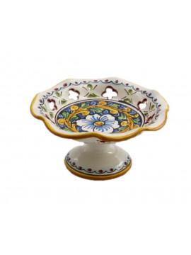 Small ceramic centerpiece in Sicilian ceramic art.5 dec. Baroque