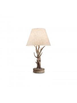 Lume grande rustico in legno intagliato corna 1 luce Chalet