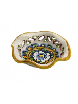 Ciotola piccola in ceramica siciliana art.23 dec. Barocco