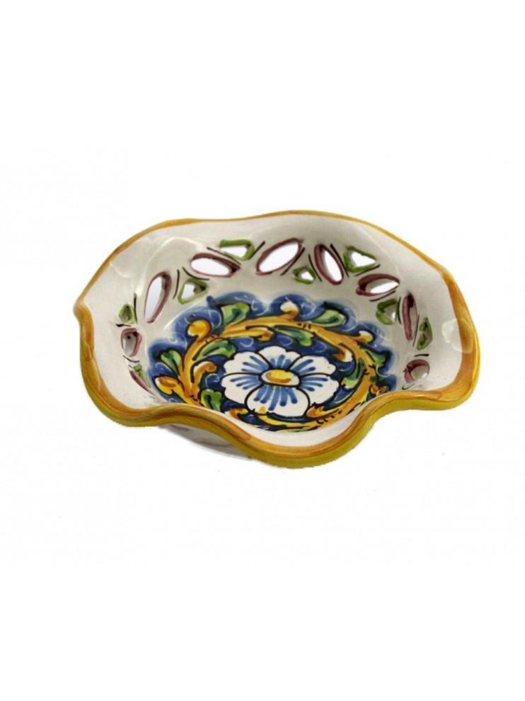Small Sicilian ceramic bowl art.23 dec. Baroque