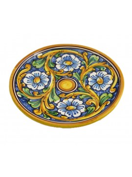Sicilian ceramic dish art.14 dec. Baroque