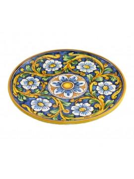 Piatto in ceramica siciliana art.12 dec. Barocco