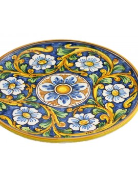 Sicilian ceramic dish art.12 dec. Baroque