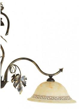 bilanciere classico in ferro battuto 2 luci Matilde vetro
