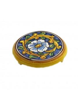 Porta caffettiera in ceramica siciliana art.20 dec. Barocco