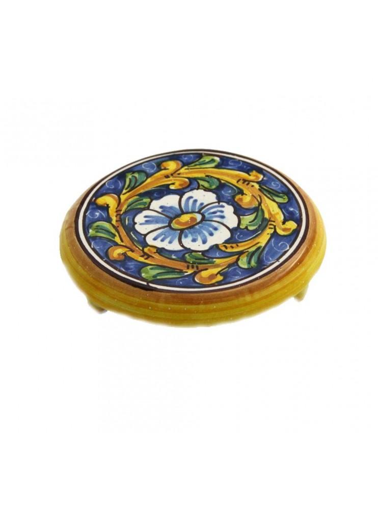 Sicilian ceramic coffee pot holder art.20 dec. Baroque