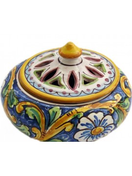 Small candy holder in Sicilian ceramic art.2 dec. Baroque