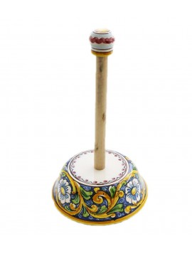 Sicilian ceramic roll holder art.11 dec. Baroque