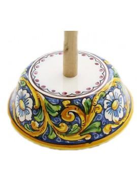 Porta rotolo in ceramica siciliana art.11 dec. Barocco