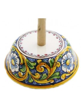 Sicilian ceramic roll holder art.11 dec. Baroque