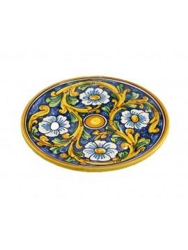 Sicilian ceramic dish art.13 dec. Baroque