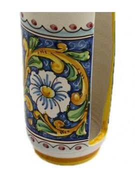Portabicchieri grande in ceramica siciliana art.17 dec. Barocco