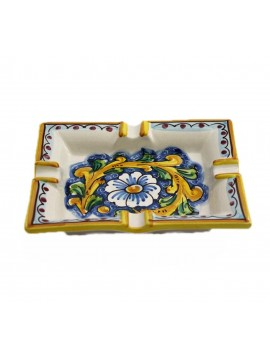 Sicilian ceramic ashtray art.27 dec. Baroque
