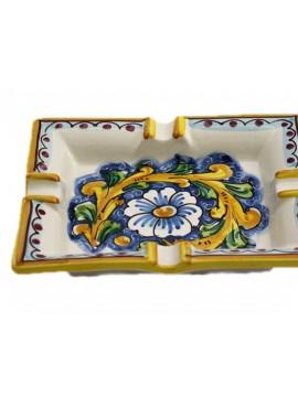 Portacenere in ceramica siciliana art.27 dec. Barocco