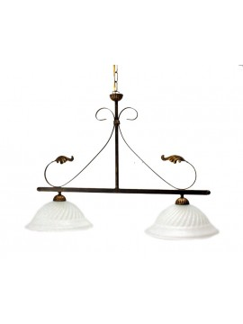 classic wrought iron bar 2 dark Eco lights