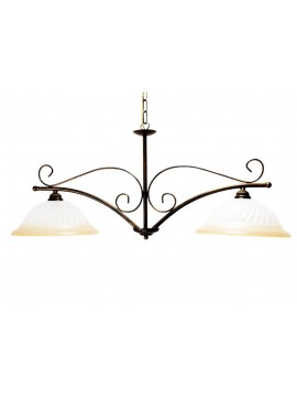 classic barbell in wrought iron 2 lights Esse vetro