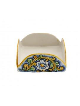 Sicilian ceramic napkin holder art.9 dec. Baroque
