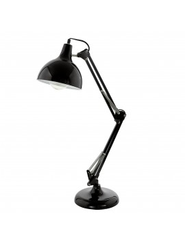 Modern 1 light black study lamp GLO 94697 Borgillio