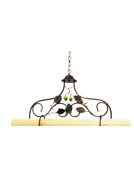 Rustic barbell in wrought iron and light wood 2 lights Alf 250v