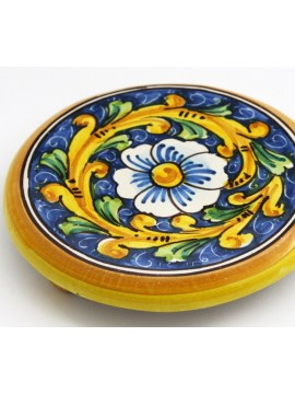 Sicilian ceramic trivet art.19 dec. Baroque