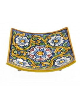 Svuota tasche in ceramica siciliana art.26 dec. Barocco