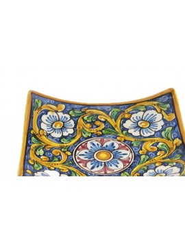 Empty Sicilian ceramic pockets art.26 dec. Baroque