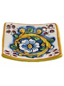 Svuota tasche in ceramica siciliana art.21 dec. Barocco
