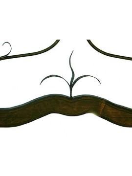 bilanciere rustico in ferro battuto e legno noce 2 luci Alf 211 murano