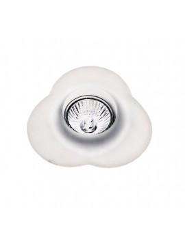 Faretto da incasso in vetro bianco 1 luce GFA 090