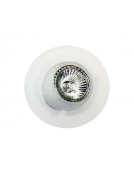 Faretto da incasso orientabile in vetro bianco 1 luce GFA 050