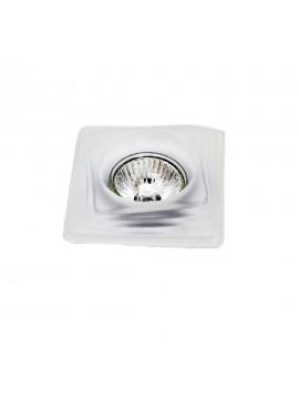 Faretto da incasso in vetro bianco satinato 1 luce GFA 080