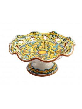 Centrotavola alzata media in ceramica siciliana art.4 dec Gianluca
