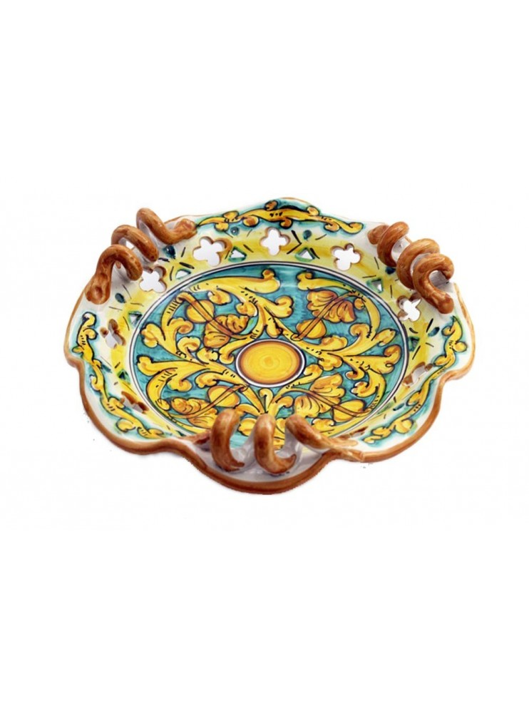 Small Sicilian ceramic centerpiece art.7 dec. Gianluca