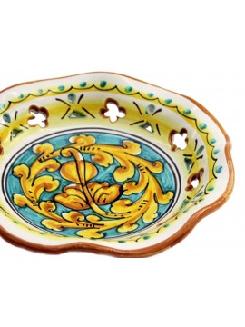 Large Sicilian ceramic bowl art.22 dec. Gianluca