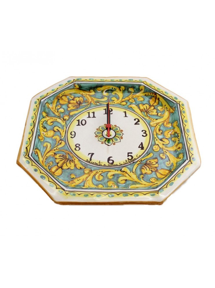 Orologio in ceramica siciliana art.24 dec.Giuanluca
