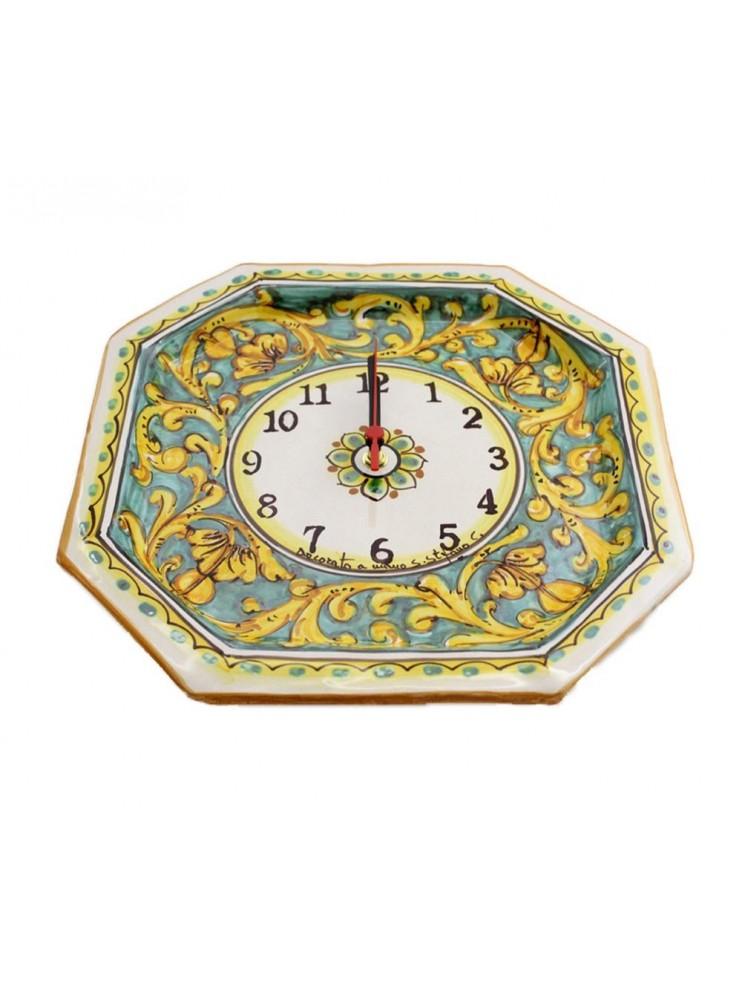 Sicilian ceramic clock art.24 dec.Gianluca