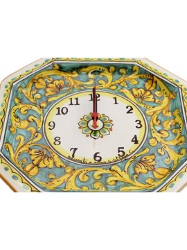 Sicilian ceramic clock art.24 dec.Gianluca