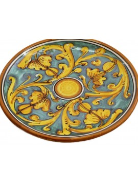 Sicilian ceramic dish art.14 dec. Gianluca
