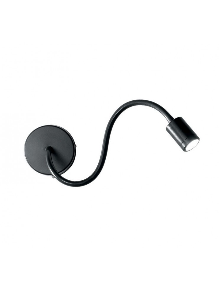 LED wall light 3w modern flexible black Focus
