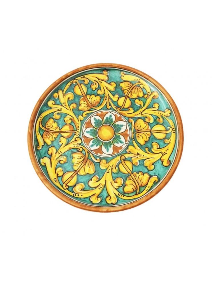 Sicilian ceramic dish art.12 dec. Gianluca