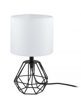 GLO 95789 Carlton 2 fabric vintage table lamp