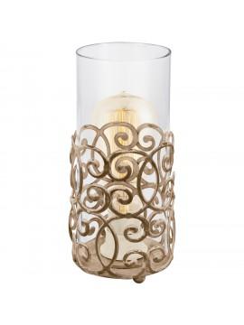 Lampada vintage 1 luce con vetro trasparente GLO 49274 Cardigan