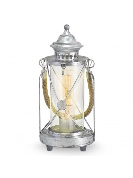 Vintage lamp 1 light antique silver GLO 49284 Bradford
